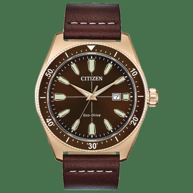 Citizen Vintage Brycen Sport Men's Eco-Drive Brown Dial Watch #1