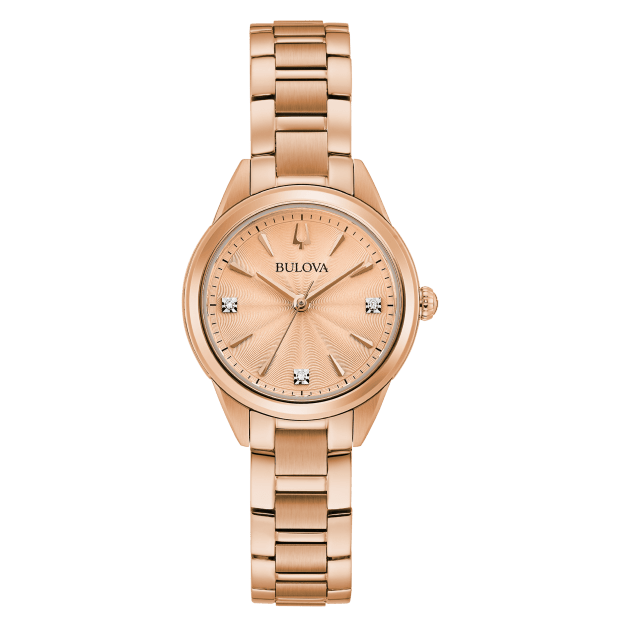 Bulova Sutton Ladies Rose-Gold Tone Watch #1
