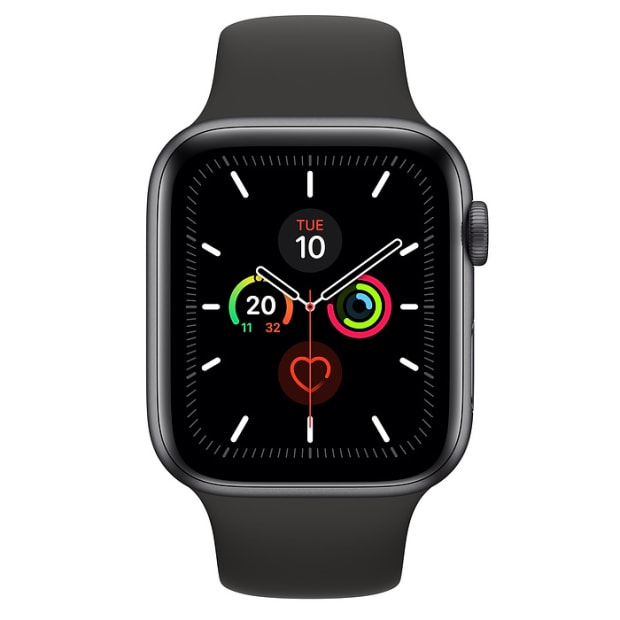 Apple Watch Series 5 Space Grey Aluminium Case with Black Sport Band - 40mm - GPS #1
