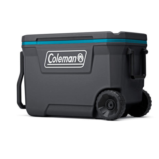 Coleman 62-Quart Wheeled Cooler - Dark Stone/Sea Blue #1