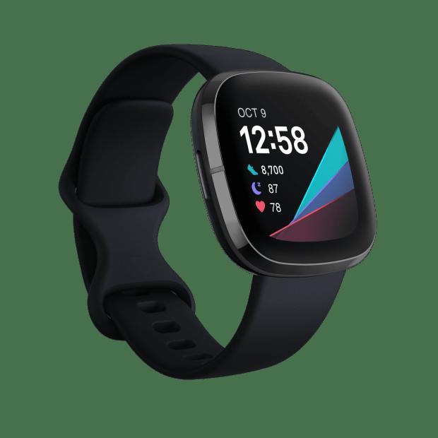 Fitbit Sense Smartwatch - Carbon/Graphite Stainless Steel #1