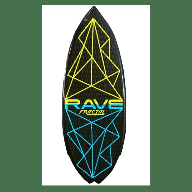 Rave Sports Fractal Wake Surf Board - Blue/Green #1