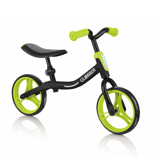 Globber GO BIKE Balance Bike for Toddlers - Black/Lime Green #1