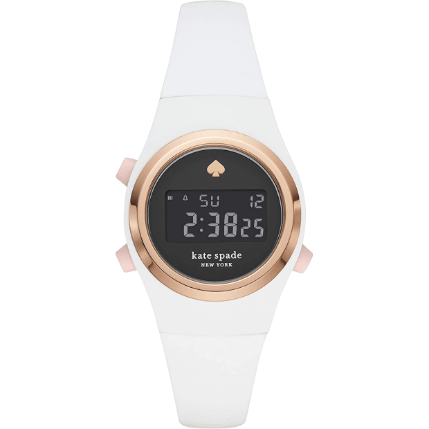 Kate Spade New York Rumsey White Silicone Digital Watch #1