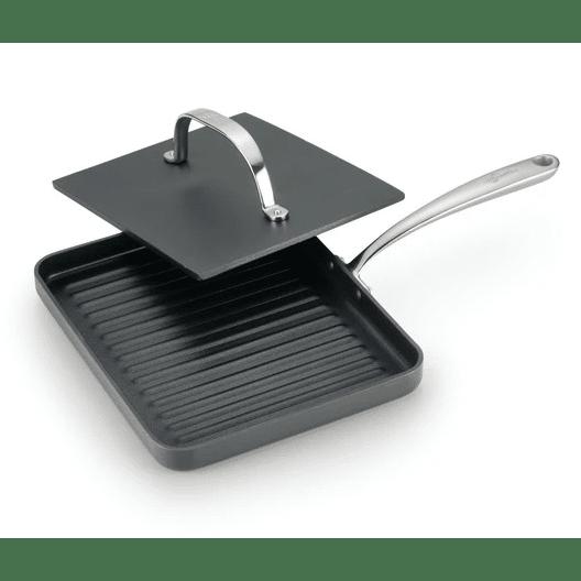Lagostina® Nera. Hard Anodized Nonstick 10'' Panini Pan with Cast Iron Press #1