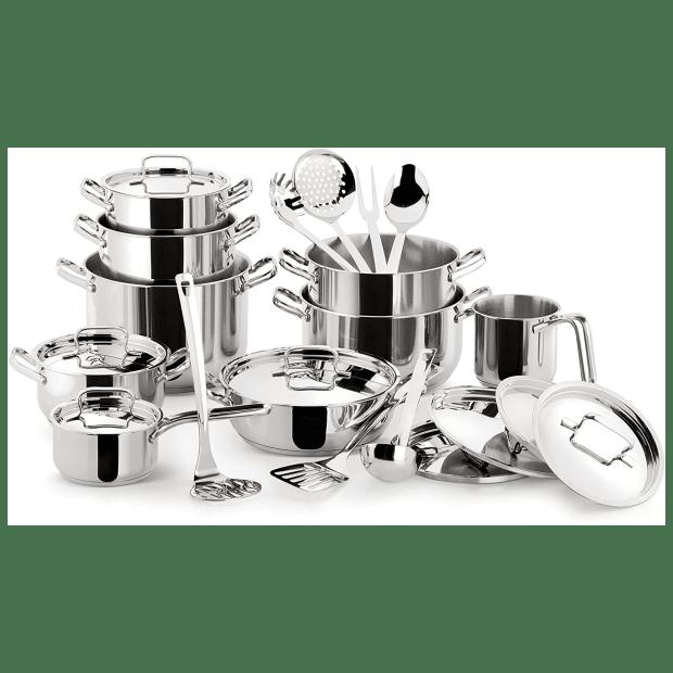 Lagostina® Sfiziosa 24-Piece Stainless Steel Cookware Set #1