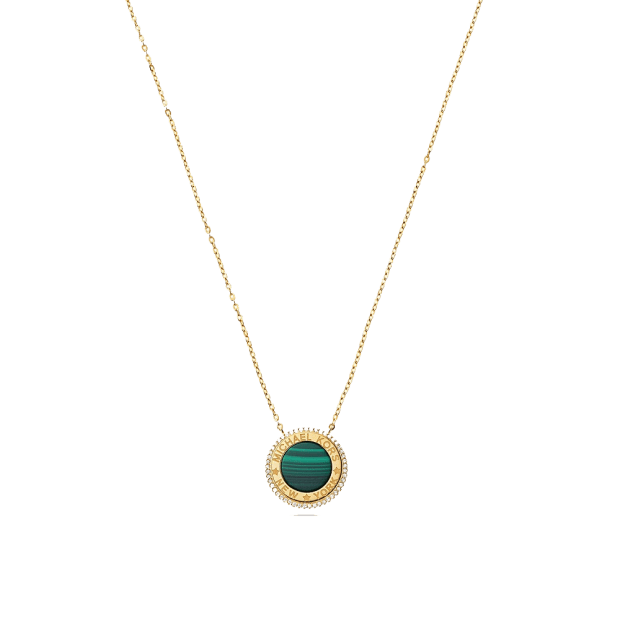 Michael Kors 14k Gold-Plated Sterling Silver Focal Stone Pendant Necklace #1