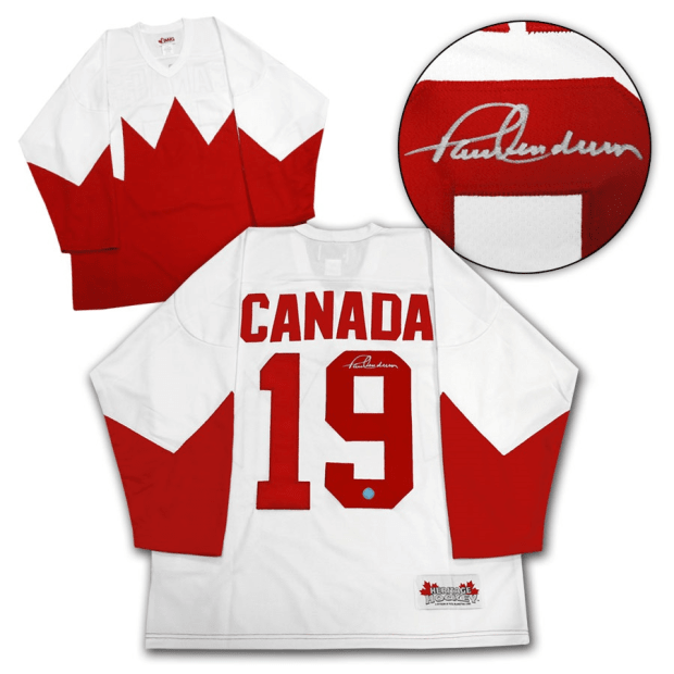 A.J. Sportsworld Paul Henderson Team Canada Autographed 1972 Summit Series Jersey