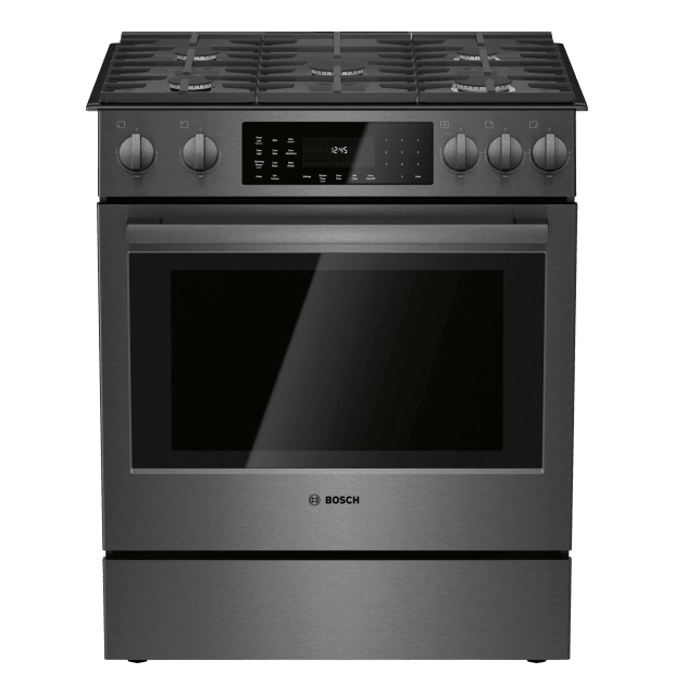 Bosch 800 Series 30'' Gas Slide-in Range - Black Stainless Steel #1