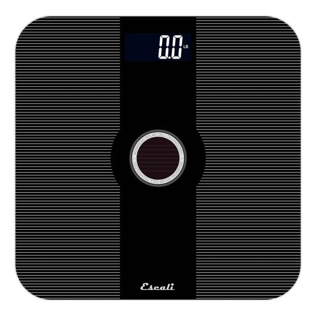 Escali Solar USB Charging Bathroom Scale #1