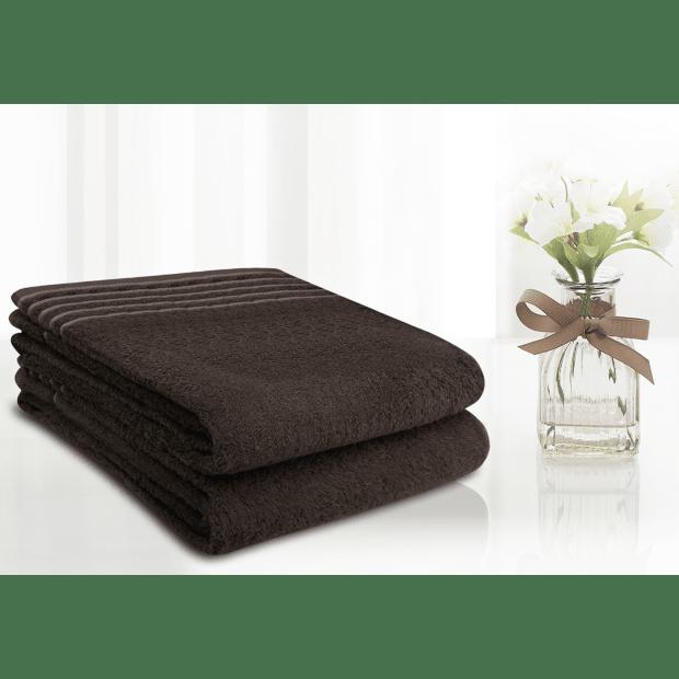 LuxeportSPA 2-Piece Bamboo Bath Sheet Set - Chocolate