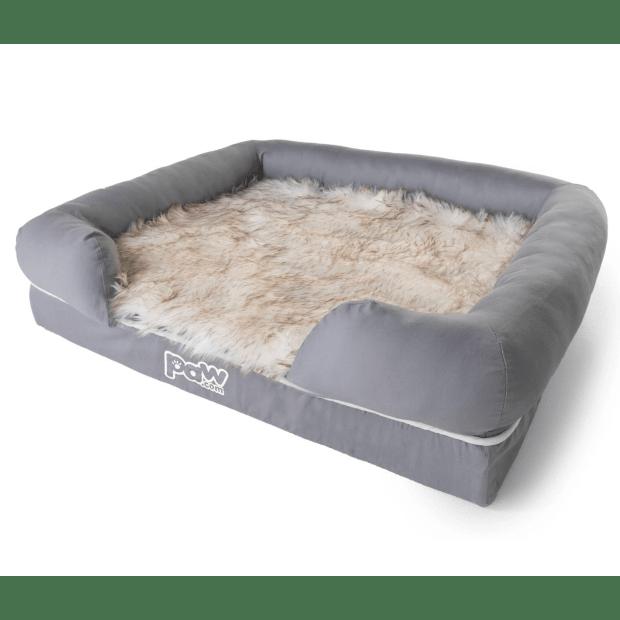 Paw Canada PupLounge™ Memory Foam Bolster Bed & Topper - Medium/Large #1