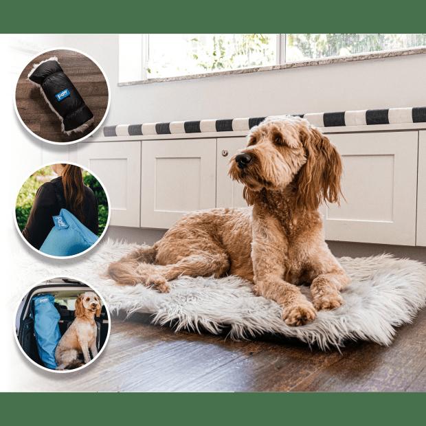Paw Canada PupRug™ Portable Orthopedic Dog Bed - Grey - Large/Extra Large #1