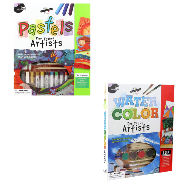 SpiceBox Petit Picasso Pastels and Watercolor for Young Artists Bundle #1
