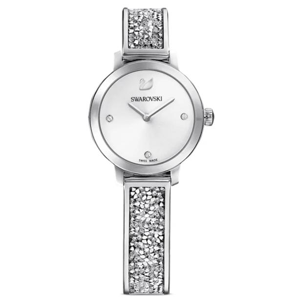 Swarovski Cosmic Rock Metal Bracelet White/Stainless Steel Watch #1