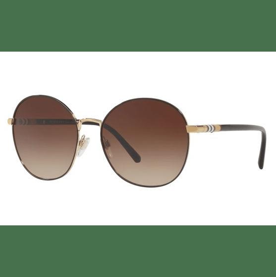 Burberry Ladies Fashion Sunglasses - Light Gold Frames / Light Brown Gradient #1