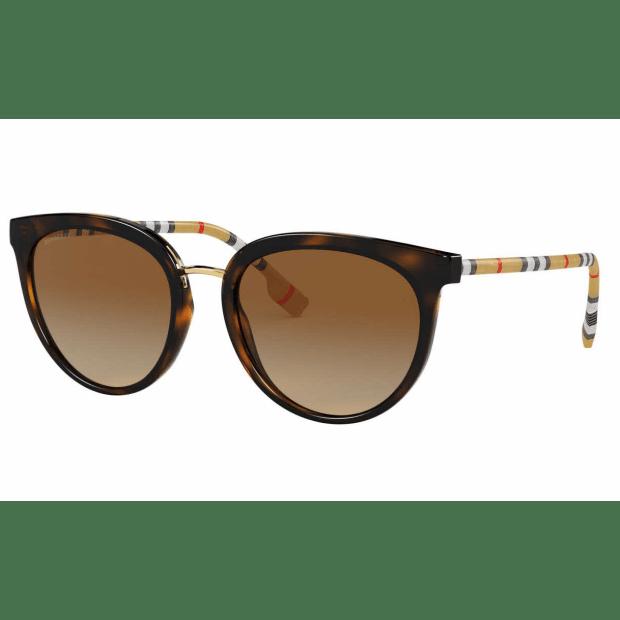 Burberry Willow Ladies Sunglasses - Dark Havana/Gradient Brown #1