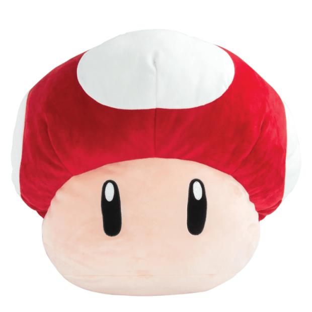 Club Mocchi-Mocchi Super Mario Mushroom Jumbo Plush Stuffed Toy #1