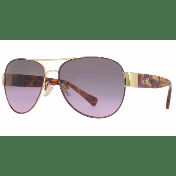 Coach HC7059 Ladies Sunglasses - Purple/Gold/Grey-Purple Gradient #1