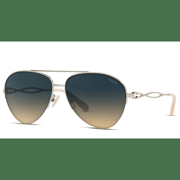 Coach HC7124 Ladies Sunglasses -Shiny Light Gold/Blue Gradient #1