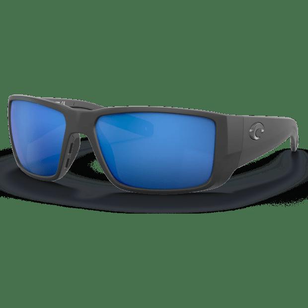 Costa® Blackfin Pro Mens Sunglasses - Matte Black/Blue Mirror #1