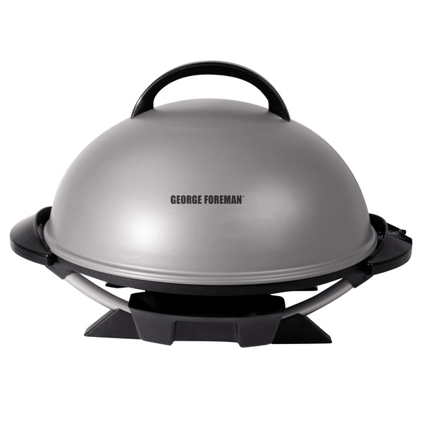 George Foreman® Indoor/Outdoor 15+ Serving Domed Electric Grill - Silver #1
