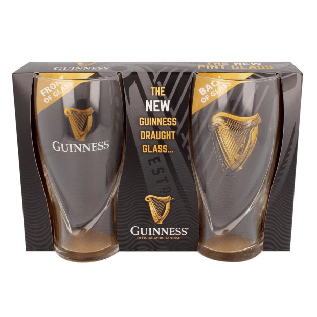 Guinness Gravity 20 Ounce Embossed Pint Beer Glass- Set of 4 #1