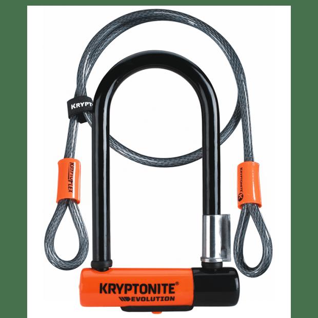 Kryptonite New-U Evolution Mini-7 with Flex Cable Bike Lock #1