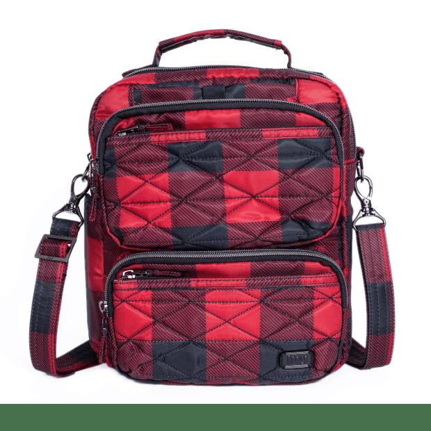 Lug® Compass Crossbody Bag - Buffalo Check Red #1