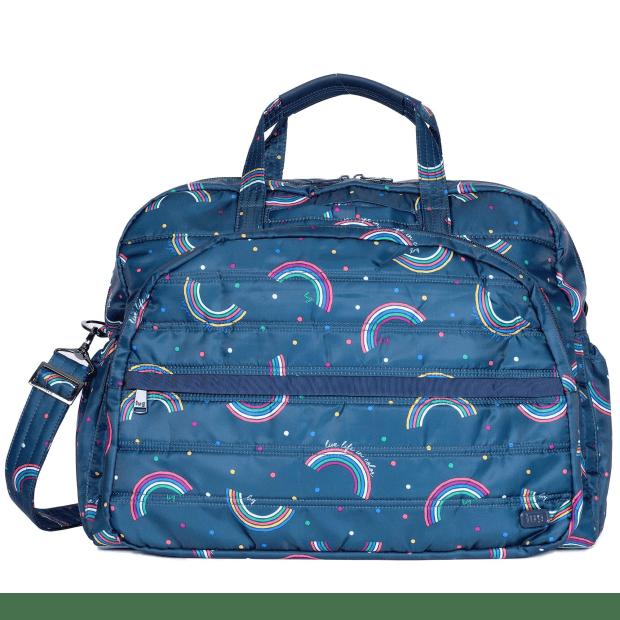 Lug® Steamboat 2 Overnight Bag – Rainbow Navy #1