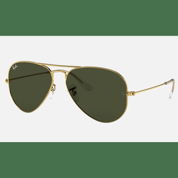 Ray_Ban Aviator Classic Sunglasses - Gold/Green Classic G-15 #1