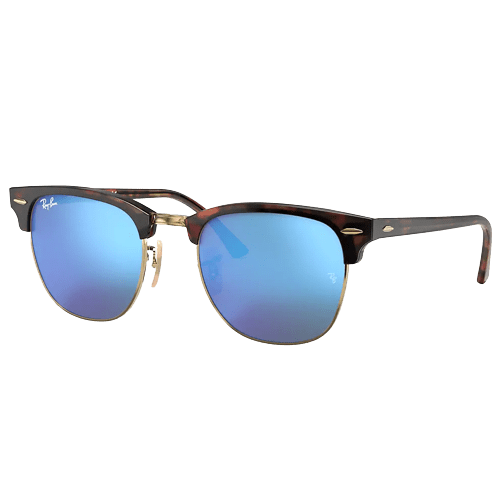 Ray-Ban Clubmaster Flash Sunglasses - Tortoise/Blue Flash #1