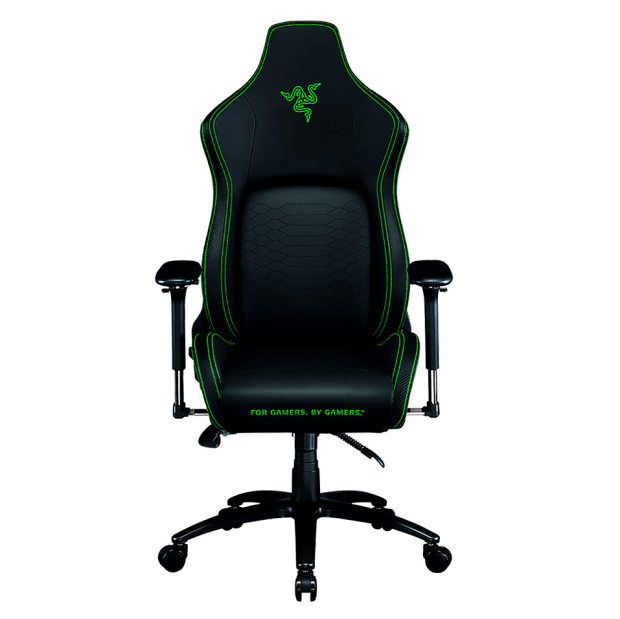 Razer™ Iskur Gaming Chair with Built-In Lumbar Support - Black/Green #1