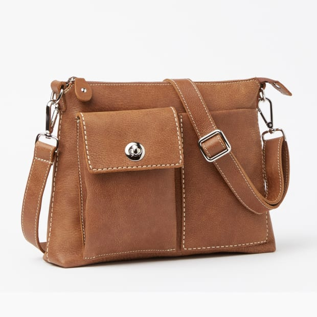 Roots The Villager Tribe Leather Bag - Natural #1