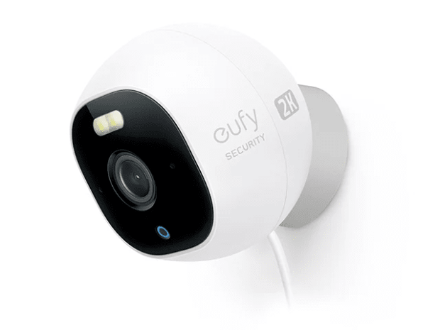 Eufy Cam Pro 2K Indoor/Outdoor Security Camera with Spotlight – White #1