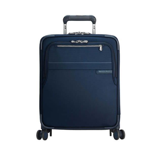 """Briggs & Riley 21"""" Baseline International Carry-On Expandable Wide-Body Spinner – Navy #1"""