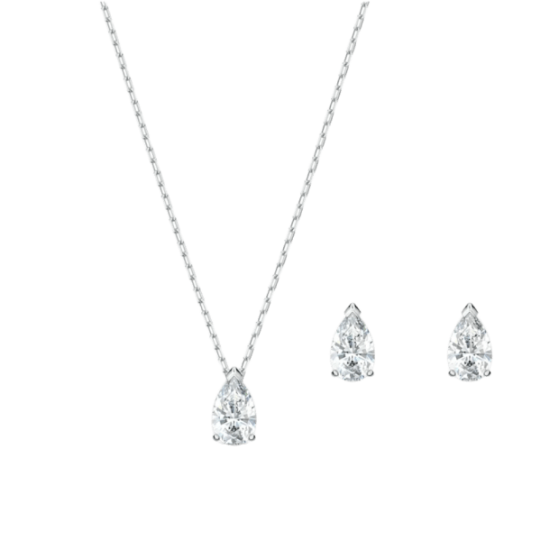 Swarovski Attract Pear Necklace and Earrings Set #1