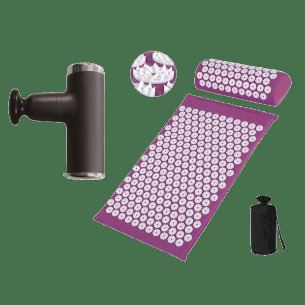 T-Zone Health Massage Gun with Acupressure Mat & Pillow Set