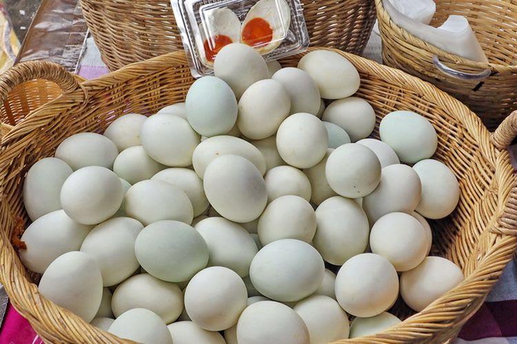 Telur bebek hasil ternak