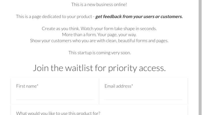 Business Waitlist