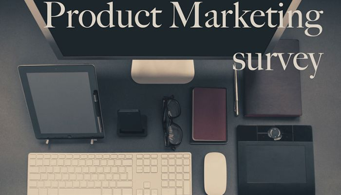 Product marketing survey