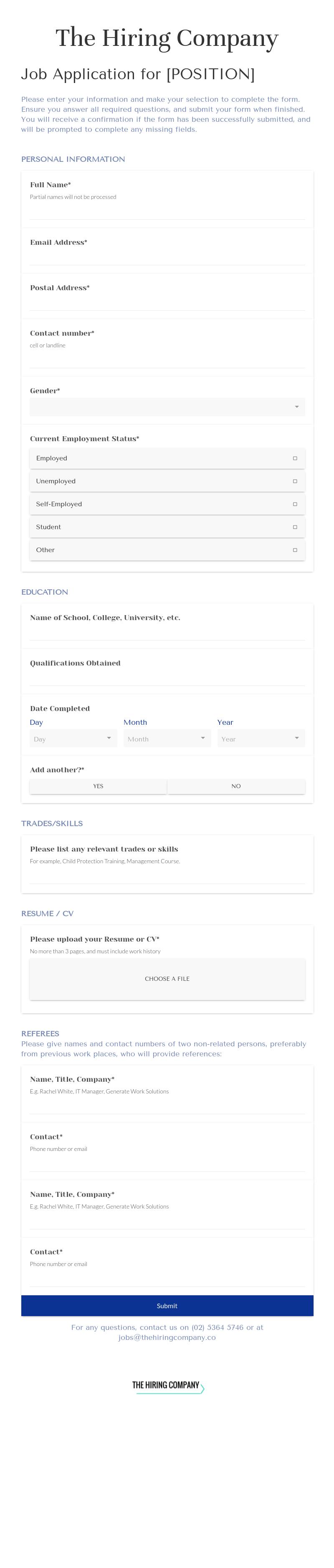 Job application forms templates job application falaconquin