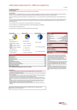 HSBC Global Liquidity Funds PLC - HSBC Euro Liquidity Fund