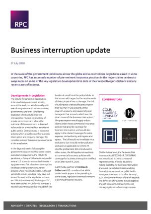 Global business interruption update