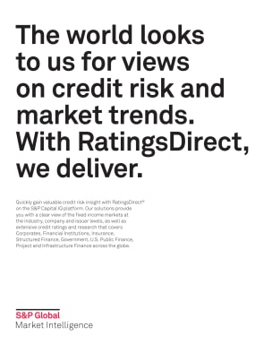 The world looks to us for views on credit risk and market trends. With RatingsDirect, we deliver.
