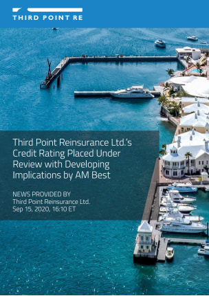 Third Point Reinsurance Ltd.'s Credit Rating Placed Under Review with Developing Implications by AM Best