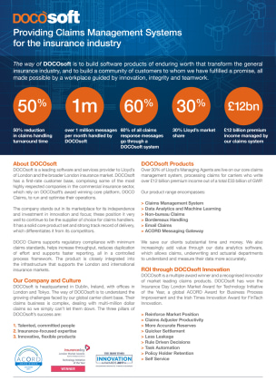 DOCOsoft | Providing Claims Management Systems for the insurance industry