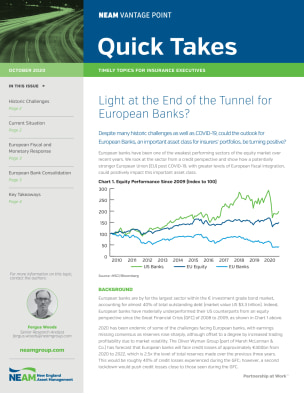 Light at the End of the Tunnel for European Banks?