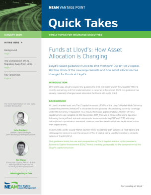 Funds at Lloyd's: How Asset Allocation is Changing