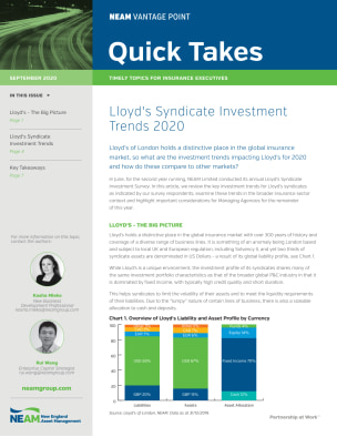 Lloyd's Syndicate Investment Trends 2020